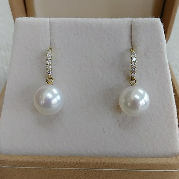 9645e26dc K18 Japanese Akoya pearl Diamond Earrings. M_5c7435fc4ab633436a9904e3.  M_5c7435185c4452067f5db6e0. M_5c743572de6f62b02130ea6d.  M_5c743653409c152e21a3ac6c